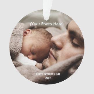 Ornamento Escritura e foto, primeiro dia dos pais