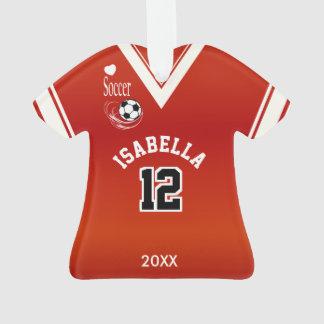 Ornamento Escuro - camisa vermelha do futebol