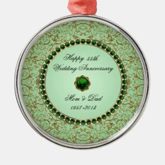 Ornamento esmeralda do aniversário de casamento