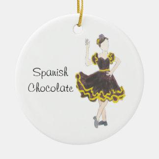 Ornamento espanhol da lembrança do chocolate do