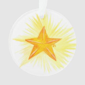 Ornamento estrela da árvore de Jesse do advento