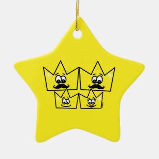 Ornamento Estrela - Família Gay Homens
