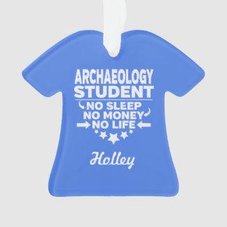 Ornamento Estudante da arqueologia nenhum vida ou dinheiro