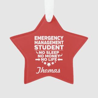 Ornamento Estudante da gestão de emergência nenhum vida ou