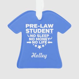 Ornamento Estudante universitário da Pre-Lei nenhum vida ou