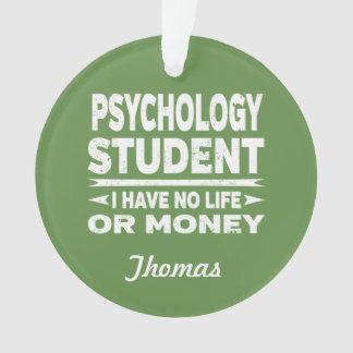 Ornamento Estudante universitário da psicologia nenhum vida