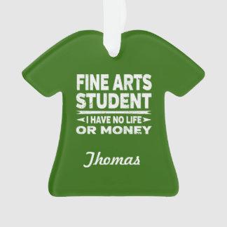 Ornamento Estudante universitário das belas artes nenhum