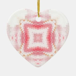 Ornamento étnico abstrato geométrico cor-de-rosa