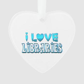 Ornamento Eu amo bibliotecas