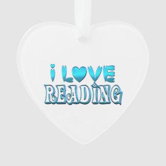Ornamento Eu amo ler