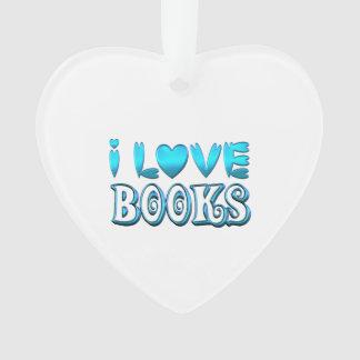 Ornamento Eu amo livros