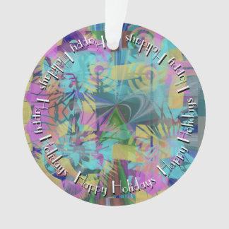 Ornamento Explosão do abstrato da cor com texto no círculo