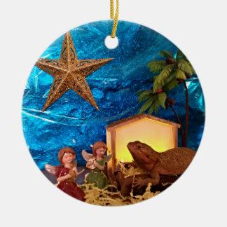 Ornamento farpado da natividade do dragão