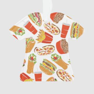 Ornamento Fast food colorido da ilustração do teste padrão