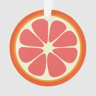 Ornamento Fatia doce suculenta dos citrinos da toranja