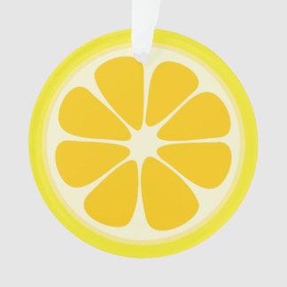 Ornamento Fatia suculenta bonito da fruta tropical do limão