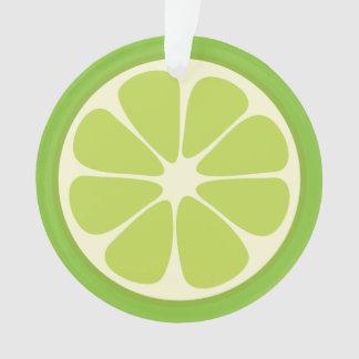 Ornamento Fatia suculenta dos citrinos do verão do verde