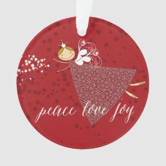 Ornamento feericamente mágico da foto do Natal dos