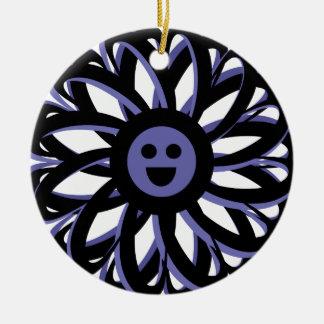 Ornamento feliz da amizade da flor - azul