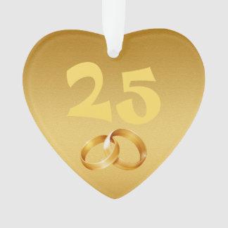 Ornamento feliz do ouro do aniversário