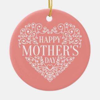 Ornamento feliz lunático do dia das mães |