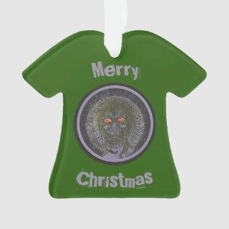 Ornamento Feliz Natal - verde do zombi Vampire.On