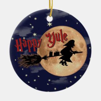 Ornamento felizes do Xmas da bruxa de Yule