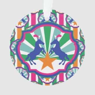 Ornamento Feriado colorido dos pôneis da mostra do circo