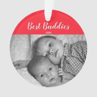 Ornamento Feriado recém-nascido personalizado da foto de