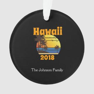 Ornamento Férias em família de harmonização Havaí 2018