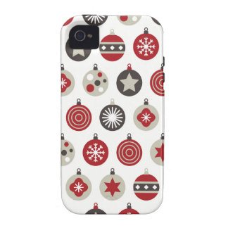 Ornamento festivo da árvore de Natal do feriado Capas Para iPhone 4/4S