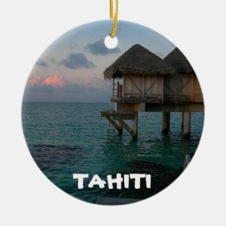 Ornamento festivo do círculo da lagoa de Tahiti