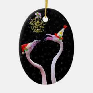 Ornamento festivo dos flamingos