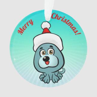 Ornamento Filhote de cachorro pequeno com chapéu de Papai