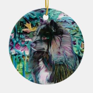 Ornamento finlandês de IHANA Lapphund Lappy