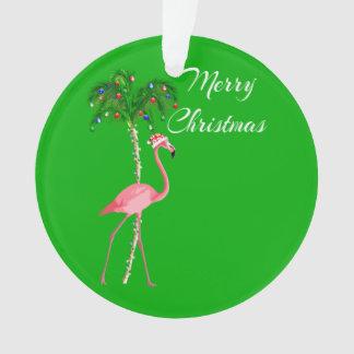 Ornamento Flamingo do Feliz Natal