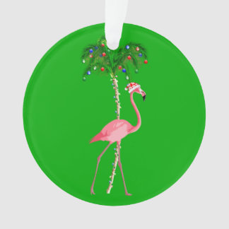 Ornamento Flamingo do Natal