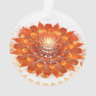 Ornamento flor abstrata da laranja do fractal do design