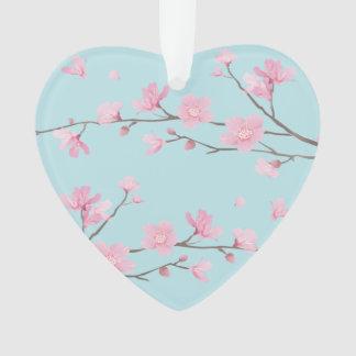 Ornamento Flor de cerejeira - azul-céu - ANIVERSÁRIO FELIZ