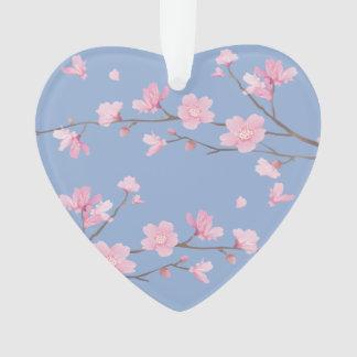 Ornamento Flor de cerejeira - azul da serenidade -