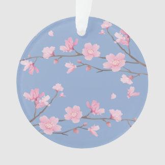 Ornamento Flor de cerejeira - azul da serenidade - FELIZ