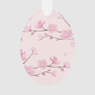 Ornamento Flor de cerejeira - rosa - FELIZ ANIVERSARIO