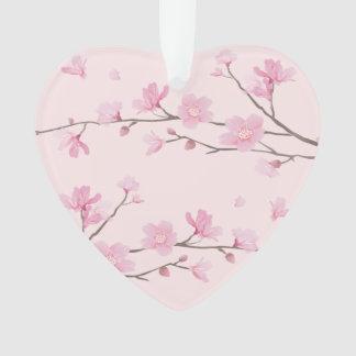Ornamento Flor de cerejeira - rosa - recem casados