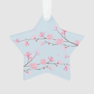 Ornamento Flor de cerejeira - transparente - FELIZ
