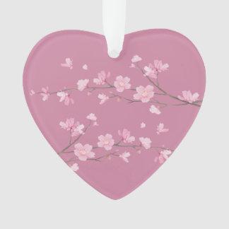 Ornamento Flor de cerejeira - transparente - recem casados