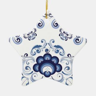 Ornamento florais azuis 2