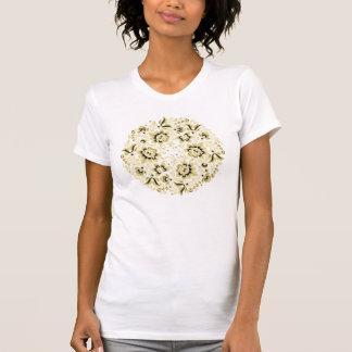 Ornamento floral bege camiseta