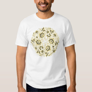 Ornamento floral bege t-shirt