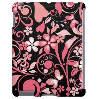 Ornamento floral cor-de-rosa capa para iPad
