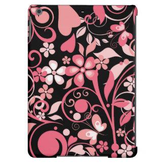 Ornamento floral cor-de-rosa capa para iPad air